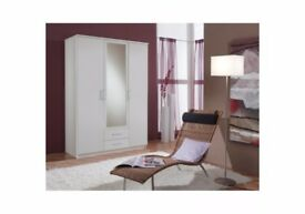 🔴🔵7-DAY MONEY BACK GUARANTEE🔴 osaka 3 Door Wardrobe with Long Mirrors - SAME/NEXT DAY DELIVERY!