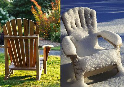 Teakmöbel können im Sommer wie Winter draußen stehen. (© Thinkstock via The Digitale)