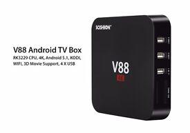 Brand New SCISHION V88 Quad Core Android/Kodi TV Box 5.1