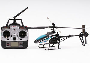 Radio Control F46 Helicopter Blue 4 Channel Single Rotor - Century UK MJX
