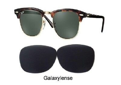 Galaxy Replacement Lenses For Ray Ban RB3016 Clubmaster Black 51mm (Ray Ban Clubmaster Replacement Lenses)