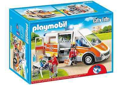 Playmobil City Life 6685 Krankenwagen mit Licht & Sound Notarztwagen