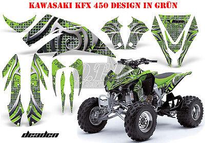 AMR RACING DEKOR GRAPHIC KIT ATV KAWASAKI KFX 450 & 700 DEADEN B