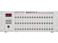 Doepfer MAQ 16/3 Sequencer Midi and 3x CV & GATE outputs with final 3.72 firmware and power supply