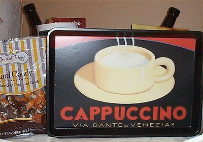 Coffee Gift Basket Tray 2 Mugs Candy Towel Creme Syrup Hot Chocolate Deluxe