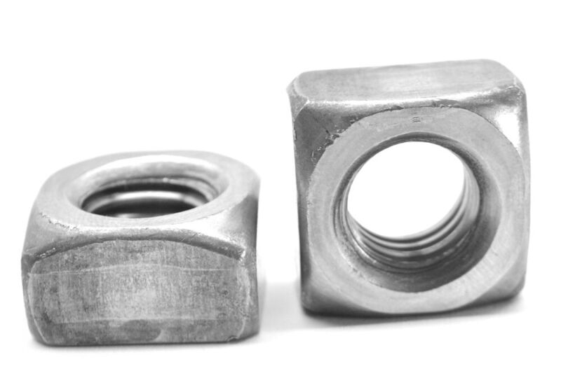 "3/4""-10 Coarse Thread Grade 2 Regular Square Nut Plain Finish"