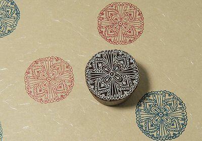 Wood Blocks Vintage Wooden Stamp Indian Textile Blocks Wood Printing Stamp Block