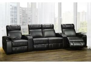 Contemporary Recliners in Black Leather CARLTON 5545 (BD-1349)