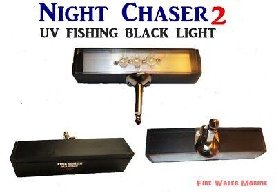 Black Light Night (NIGHT CHASER UV LED FISHING BLACK  LIGHT w/ HARD MONO PLUG + FULL MAXX MOON)