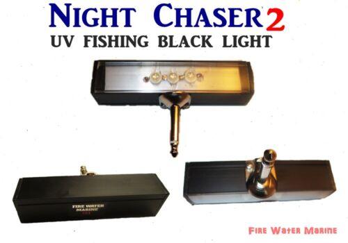 NIGHT CHASER UV LED FISHING BLACK  LIGHT w/ HARD MONO PLUG + FULL MAXX MOON GLOW