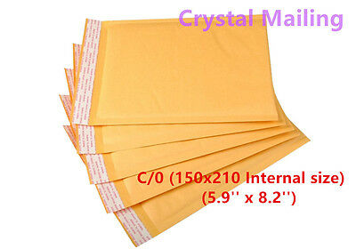 100 C/0 C0 Small Padded Bubble Lined Postal Envelopes Mailer Cheap 150x210mm UK