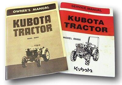 Set Of Kubota B6000 Tractor Service Owners Operators Parts Manual Catalog Diesel