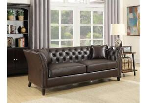 NAILHEAD LEATHER SOFA | NAILHEAD SOFA SALE HAMILTON (BD-450)