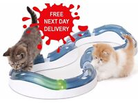 *FREE NEXT DAY DELIVERY*NEW DESIGN SENSES SUPER ROLLER CIRCUIT KITTEN BALL TOY CHASE PLAY TRACK