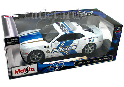 Maisto 31161 2010 Chevrolet Camaro SS RS 1:18 Diecast Police Car White