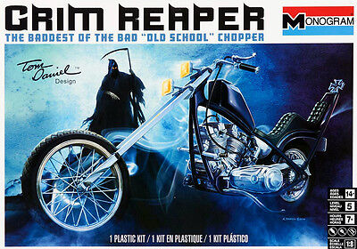 Monogram 1/8 Grim Reaper Old School Chopper SCALE PLASTIC MODEL KIT 857541