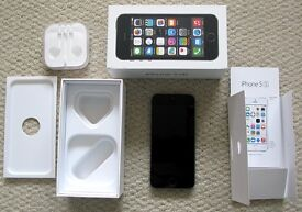 Apple iPhone 5s - 16GB - Space grey WATER DAMAGED with BOX, SIM TOOL etc for parts