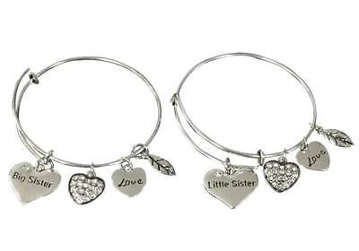 Sister Bangle Bracelet Set For Girls- Big Sister and Litttle Sister Bracelet Set Big Bangle Bracelet