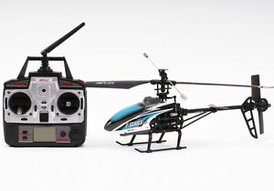 Radio Control RC Model Helicopter Blue F46 2.4GHz w/ Gyro Ready To Fly New UK 04