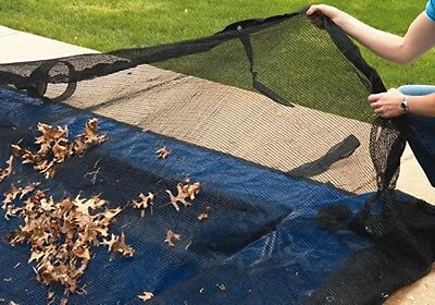 Rectangle Above or In-Ground Swimming Pool Winter Leaf Net C