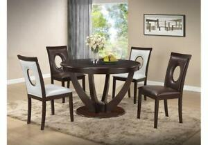 Round Dining Table With Glass Insert On Sale KW2006