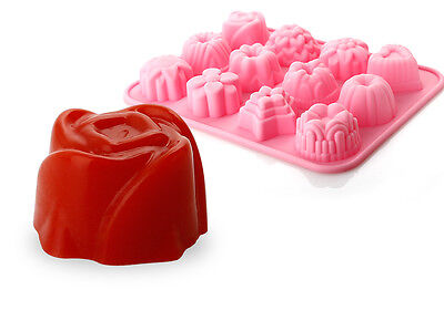 3D Silikon Blumen Muffinform Backform Schokolade Muffinförmchen Silikonbackform