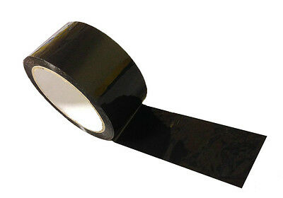 36 Rolls Black Color Packing Packaging Tape 2 X 330