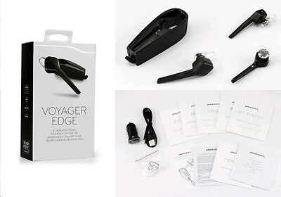 Plantronics Voyager Edge Bluetooth Headset Caller Id With Charging Case   Black