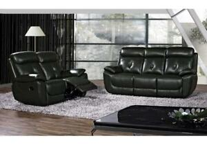 3PCS LEATHER RECLINING SOFA SET WITH ROCKER RECLINER CHAIR KA11- NATHAN 3306 (BD-1348)