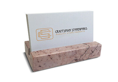 Recycled Pink Marble Business Card Holder