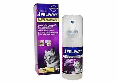 Feliway Pheromone Cat Relaxant Calming Stress Anxiety Relief Spray 60ml