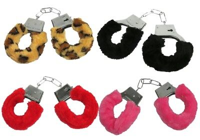 Plüsch Handschellen Scherzartikel Plüschhandschellen Handfesseln Kostüm (Nur Für Erwachsene Kostüm)