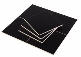 Gloss Black Wall Tiles 150x150mm RRP £15/m2 now only £5/m2 Brand new