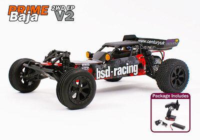 Radio Remote Control Car RC 1/10th Electric Buggy Ready to Run Baja Prime 2.4GHz