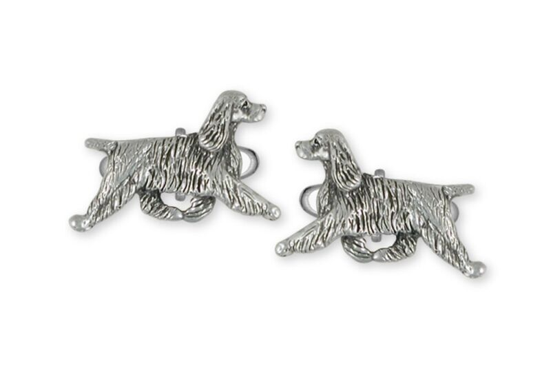 Springer Spaniel Cufflinks Jewelry Sterling Silver Handmade Dog Cufflinks SS8-CL