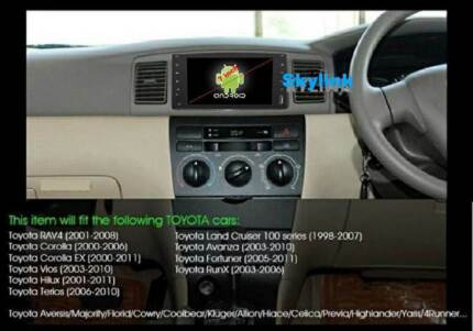 TOYOTA ANDROID APPS MIRROR LINK GPS RADIO BLUETOOTH REVERSING CAM