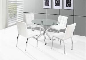 WHITE ROUND DINING TABLE (KA2233)