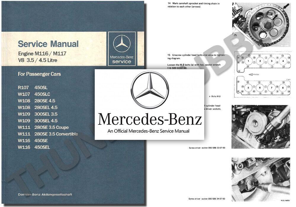 Anleitungen & Handbcher Mercedes Workshop Service Manual w108 ...