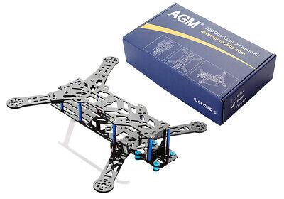 Kohlefaser Quadcopter Rahmen Carbon Fiber Frame Kit Blau 300 260 x 240x 98 mm online kaufen