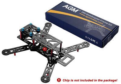 Kohlefaser Quadcopter 250 Rahmen Carbon Fiber Frame Kit Rot 260 x 240x 98 mm online kaufen