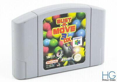 Bust A Move 3DX - N64 Nintendo 64 Retro Game Cartridge PAL