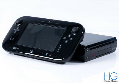 Modded Nintendo Wii U 32GB Complete Black Console & Controller Bundle! PAL