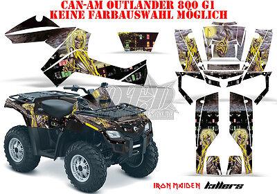 AMR RACING DEKOR GRAPHIC KIT ATV CAN-AM OUTLANDER IRON MAIDEN-KILLERS B