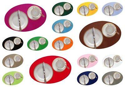 Filz-Tischset OVAL 42x28cm | Textilfilz 17 Farben Untersetzer Platzset  Ovale Platz