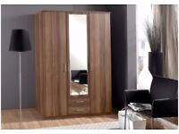 🚚SAME DAY DELIVERY🚚= GET A BRAND NEW GERMAN OSAKA 3 DOOR WARDROBE =IN WHITE/OAK COLOR