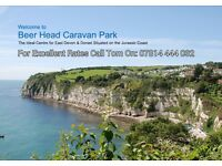 Half price in october. Caravan to let. Beer head caravan park. Devon. Beautiful coastal views.