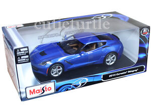 Maisto 31182 2014 Chevrolet Corvette C7 Stingray 1:18 Diecast Metalic Blue