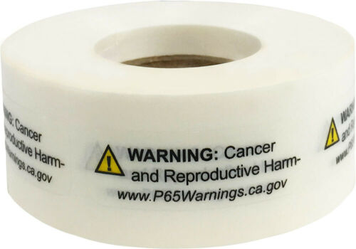 "Prop 65 CANCER & REPRODUCTIVE HARM Labels | .5 x 1.5"" Inch | 500 Labels Per Roll"