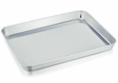 TeamFar Stainless Brace Compact Toaster Oven Pan Tray Ovenware Professional, 8''