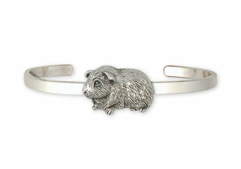 Guinea Pig Bracelet Jewelry Sterling Silver Handmade Piggie Bracelet GP6-CB